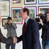 Adam Schiff Visits Xpress Art Center. 2010